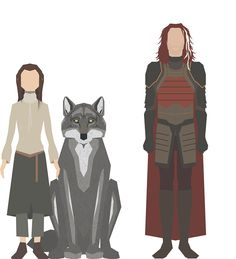Arya Stark, Nymeria e Jaqen H'ghar - By Nigel Evan Dennis
