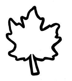 Leaf Template to use for Giving Thanks writing activity to hang ...