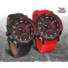 Vostok Europe Lunokhod-2 Multifunctional Black/Red Watch TM3603/6204186