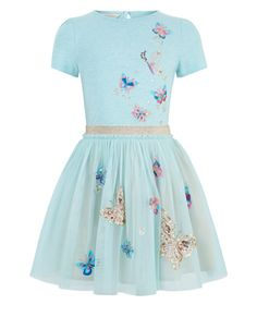 Monsoon | Disco Butterfly Dress | Blue | 9-10 Years