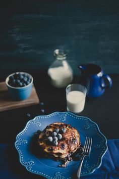 .switch the milk for a latte and that's a perfect breakfast The best blueberry pancakes are made with a swedish pancake mi/then make the mix a bit thicker than directed/then add a lot of fresh bleberries/ serve wth butter and real maple syrup(heated) so good;)