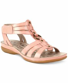 Bare Traps Delia Flat Sandals leather nude, black, white, auburn .75heel sz7.5 49.99 Sale thru 4/20