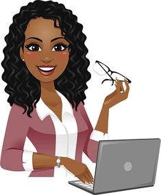 Administrative Professionals Day is on Wednesday April With 3 months & 22 . Black Girl Cartoon, Black Girl Art, Black Women Art, Black Girls Rock, Black Girl Magic, Art Girl, Administrative Professional Day, Black Art Pictures, Girl Clipart
