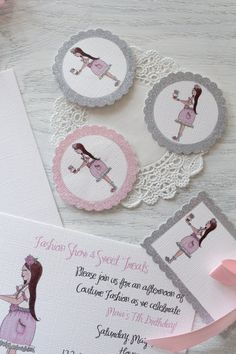 cupcake couture mini paper party goods from icing designs