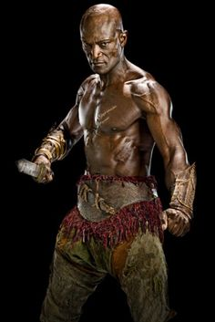 Picture: Peter Mensah shirtless in 'Spartacus: Vengeance.' Pic is in a photo gallery for Peter Mensah featuring 13 pictures. Liam Mcintyre, Spartacus Tv Series, Spartacus 2, Spartacus Workout, Peter Mensah, Spartacus Vengeance, Spartacus Blood And Sand, Character, Costumes