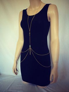 Sexy and Elegant Gold Body Chain by AuricAddiction #sexy #elegant #bodychain #silver #gold #jewelry #style #fashion #ootd #ootn #beauty #beautiful #fall #autumn #seasonal #datenight #date #evening #accessory #eveningwear #bikini #bikiniaccessory #accessories #fashionaccessory #lifestyle #cute #cuteaccessory #fallfashion