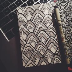 More patterns. Done with microns in my little red moleskine.