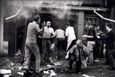 Casualties of a nail bomb at the Admiral Duncan pub on Old Compton Street Photograph: Neil Libbert for the Observer