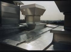 Amazing seamed details on a stainless steel roof in Frankfurt, Germany. http://copperexclusive.com/portfolio-2/european-projects/