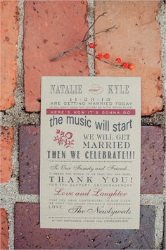 Loving' this short 'n sweet wedding ceremony program! #weddingceremony #wedding #ceremony