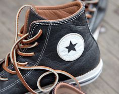 To know more about CONVERSE Leather / sneakers, visit Sumally, a social network that gathers together all the wanted things in the world! Featuring over other CONVERSE items too! Leather Converse, Converse Shoes, Men's Shoes, Shoe Boots, Black Converse, Nike Outfits, Zapatillas Casual, Mode Shoes, Fashion Shoes