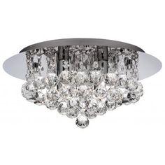 Bathroom Chandelier A Modern Crystal And Chrome Light. Bathroom Safe Light.
