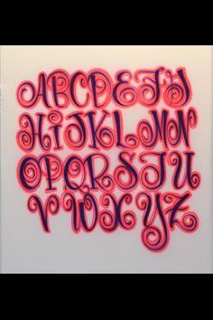 Airbrush Lettering Font - Festive Caps