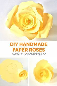 DIY Handmade Paper Roses With Free Printable Template paperose papercrafts paperart paperflowers flowertemplate rosetemplate 53409945567448527 Paper Flowers Diy, Paper Roses, Diy Paper, Fabric Flowers, Paper Crafts, Paper Art, Flower Diy, Flower Wall, Scrapbook Paper Flowers