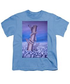 Purchase a youth t-shirt featuring the image of Endless Stillness by Faye Anastasopoulou.  Available in sizes S - XL.  Each youth t-shirt is printed on-demand, ships within 1 - 2 business days, and comes with a 30-day money-back guarantee,   apparel, casual, outfit, wear, clothing, summer, blouse, designed, artistic, unique, light blue,purple, boys