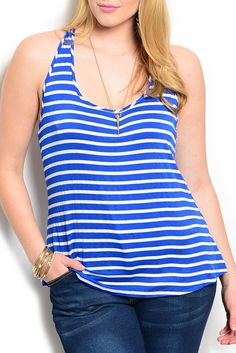 DHStyles Women's [HOT SELLER] Royal Plus Size Trendy Striped Racerback Soft Knit Casual Top #sexytops #clubclothes #sexydresses #fashionablesexydress #sexyshirts #sexyclothes #cocktaildresses #clubwear #cheapsexydresses #clubdresses #cheaptops #partytops #partydress #haltertops #cocktaildresses #partydresses #minidress #nightclubclothes #hotfashion #juniorsclothing #cocktaildress #glamclothing #sexytop #womensclothes #clubbingclothes #juniorsclothes #juniorclothes #trendyclothing…