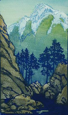 Quiet - Color Block Print by:  Frances Hammell Gearhart (1869-1958), artist b. in Illinois