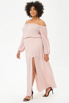 ed24e3e90be Plus Size Chiffon Off-the-Shoulder Maxi Skort Romper - Wedding Season -  Shop By Collection - Clothing