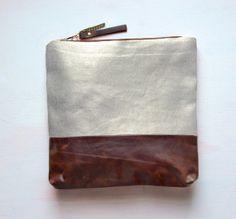 Metallic Makeup bag