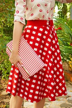 Triple Pattern Mixing -- Love this cute outfit!