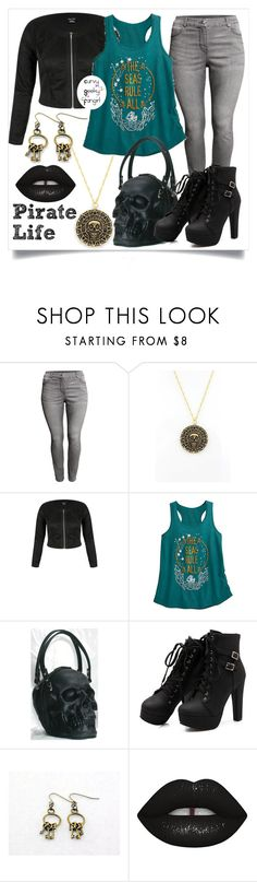 """""""Pirate Life"""" by curvygeekyfangirl ❤ liked on Polyvore featuring H&M and Lime Crime"""