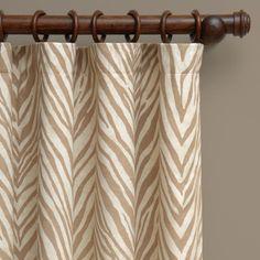 the HUNTED INTERIOR  Beige zebra drapes