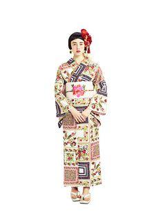 ScarfRose Japanese Costume, Japanese Kimono, Japanese Outfits, Japanese Fashion, Kimono Dress, Yukata, Kimono Fashion, Retro, Traditional Dresses