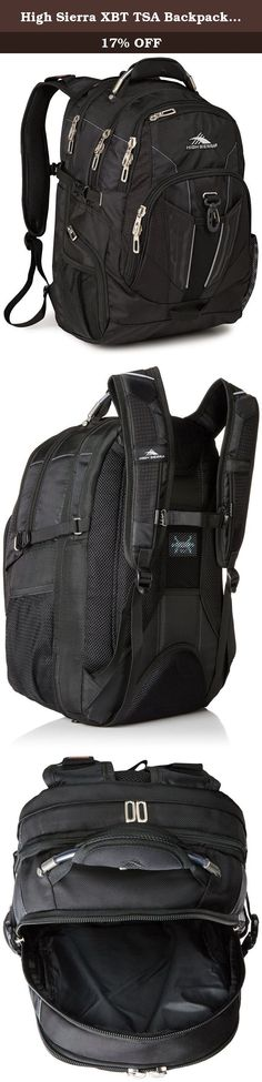 High Sierra XBT TSA Backpack, Black. TSA Approved backpack eliminates the need to remove your laptop from the bag when passing through airport security.
