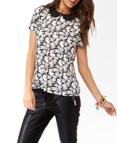 Collared Hello Kitty® Cluster Blouse | FOREVER21 - 2030186964