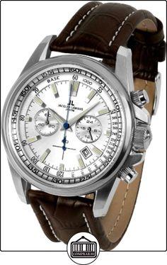 JACQUES LEMANS Liverpool 1-1117 N - Reloj de caballero de cuarzo, correa de acero inoxidable color marrón de  ✿ Relojes para hombre - (Gama media/alta) ✿