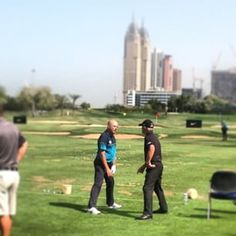 On the range with golfing coach supremo Pete Cowan (Stenson, McDowell just 2 of many) at the Omega Dubai Desert Classic #dubai #abudhabi #golf #uaegolf #uae #emirates #golfer #golfing #mydubai #socialgolf #sun #happy #like #smile #instagood #instagolf #lo