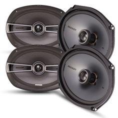 Kicker Speaker Bundle - Two pairs of Kicker 6x9 Inch KS-Series Speakers 41KSC694