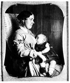 Mid 19th century breastfeeding mother: A very different attitude about nursing mothers.