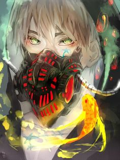 Arthur with a very interesting take on a gas mask - Art by bwusagi