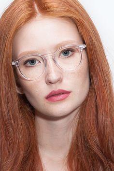 Red head slim glasses sex