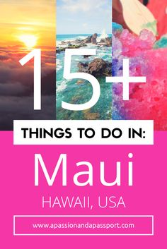Headed to Hawaii soon?! There are so many things to do Maui! With a weekend in Maui, you'll be able to check off so many of these top spots!
