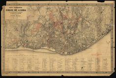 carta topográfica de Lisboa por Filipe Folque levantada entre 1856 e 1858, publicada em 1871