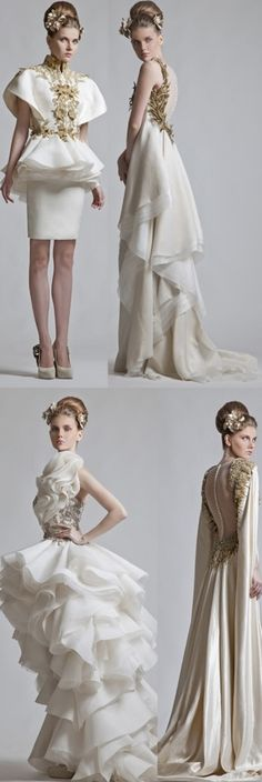 Krikor Jabotian jaglady and inspirations at I Love Fashion, High Fashion, Fashion Beauty, Fashion Show, Fashion Design, Wedding Dress Styles, Bridal Dresses, Bridesmaid Dresses, Krikor Jabotian