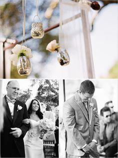 hanging mercury tea lights with flowers sooo pretty