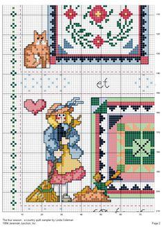 Schema punto croce Stagioni Country 03