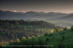 The hills of Podhale. The Tatra Mountains on the background. Love that place!