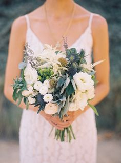 White and green bouquet <3!