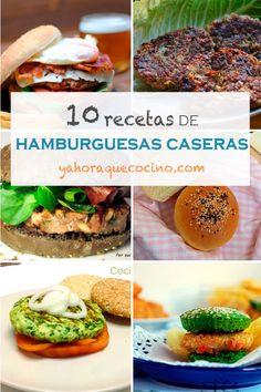 Recopilatorio de 10 Recetas de Hamburguesas Caseras, no te los puedes perder hay de todos los tipos para veganos, vegetarianos