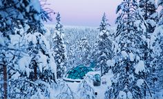 Go Glacier Glamping in a Glass Igloo & View the Northern Lights in Finland at this unique event and wedding venue