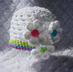 Crocheted Spring Hat by SweetLillysBoutique on Etsy, $8.00