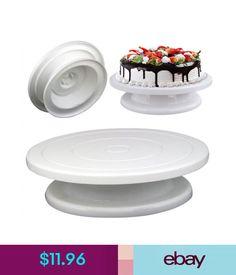 Baking Accs. & Cake Decorating Baking Tools Cake Decorating Turntable Swivel Plate Decor Stand Platform Hjx8 #ebay #Home & Garden