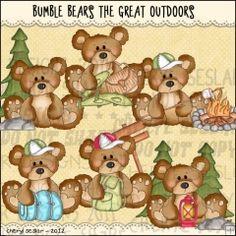 Summer Camp Bears 2 - Clip Art by Alice Smith : Digi Web Studio, Clip Art, Printable Crafts & Digital Scrapbooking!