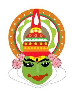 Its a mask inspired from an Indian dance form of Kerala - Kathakali