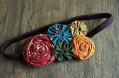 Fabric Flower Headband DIY by rosella