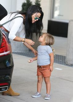 Kourtney Kardashian takes her kids Mason and Penelope to lunch and to the mall on August 23, 2015